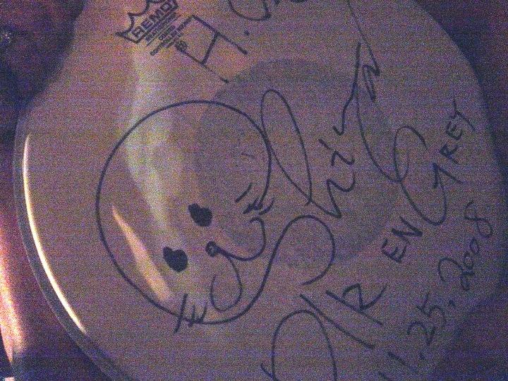 Shinya's autographed drumpad